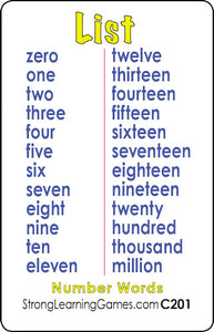 Number Words-C201