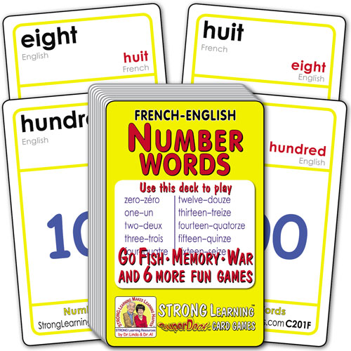 Learn Number Words-French/English C201f