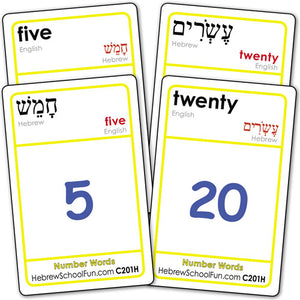 Number Words Hebrew/English (no Transliteration) C201H