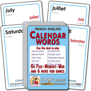Calendar Words-French/English C203F