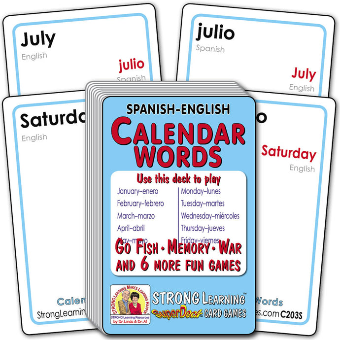 Calendar Words-Spanish/English C203S