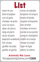 Animals We Love-Spanish/English C205s
