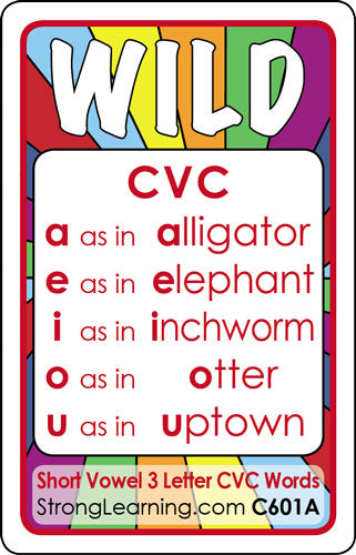Short Vowel 3 Letter Cvc Ages 5 6 C601a Stronglearninggames Com