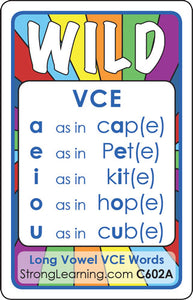Long Vowel VCE Words (Ages 6-7+) C602A