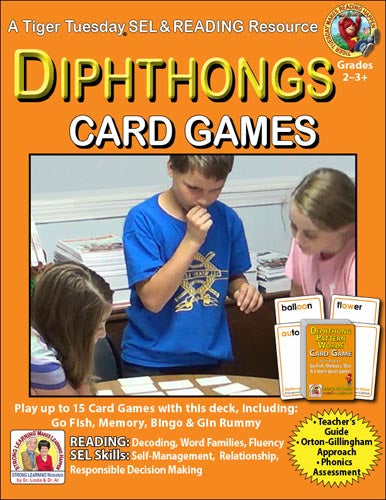 Diphthongs SuperDeck Card Games - SEL, Distance Learning - C605ABD