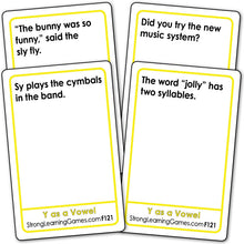 """Y"" as a Vowel  Fluency Deck (Ages 8-11+) F121"