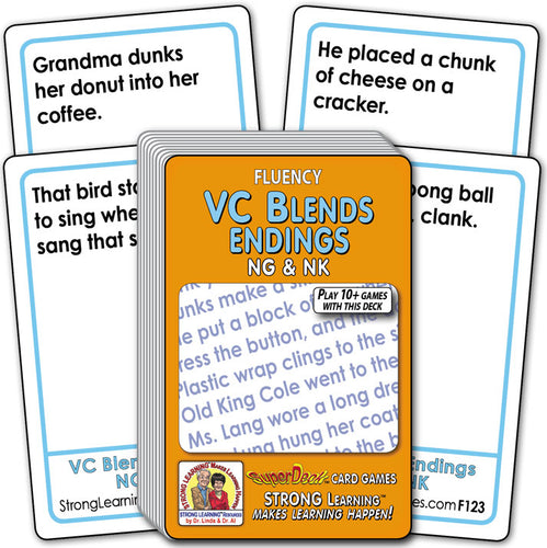 VC Blends Endings NG & NK  Fluency Deck (Ages 8-11+) F123