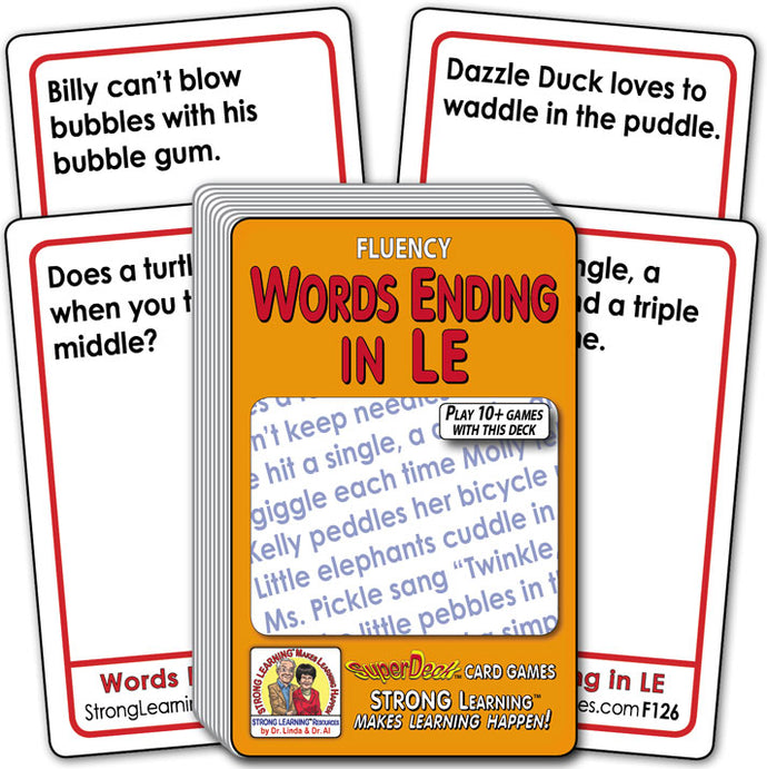 Words Ending in LE Fluency Deck (Ages 8-11+) F126