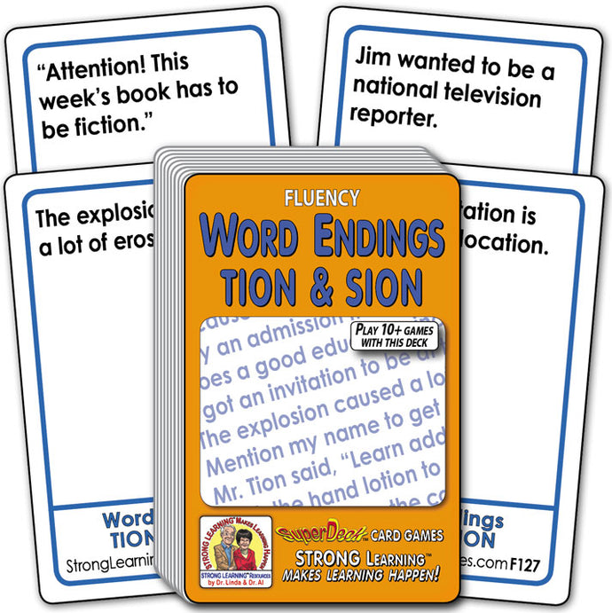 Word Endings TION & SION Fluency Deck (Ages 8-11+) F127