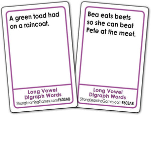 Long Vowel Digraph Words  Fluency Deck (Ages 6-7+) F603AB