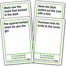 R-Controlled Vowel-Words Fluency Deck (Ages 7-8+) F604A