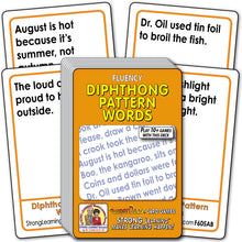Diphthong Pattern Words Fluency Deck (Ages 7-8+) F605AB