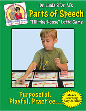 Parts of Speech - Fill the House Lotto Learning Activity - Digital Download