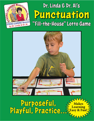 Punctuation - Fill the House Lotto Learning Activity - Digital Download