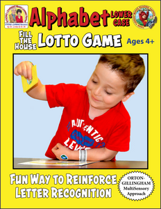 Alphabet Lower Case - Fill-the-House Lotto Activity - Distance Learning-L599BD
