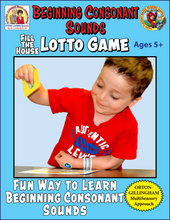 Beginning Consonant Sounds - Fill-the-House Lotto Activity - Distance Learning-L600AD