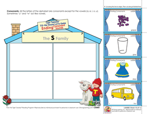 Ending Consonant Sounds - Fill-the-House Lotto Activity - Distance Learning-L600BD