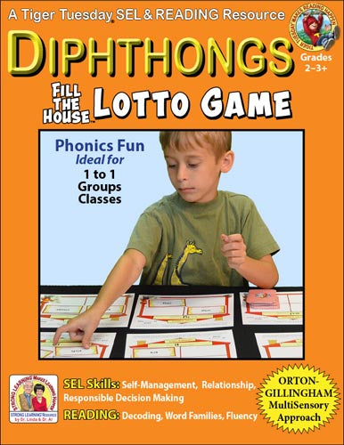 Vowel Diphthongs - Lotto Learning Activity - Digital Download - L605AD