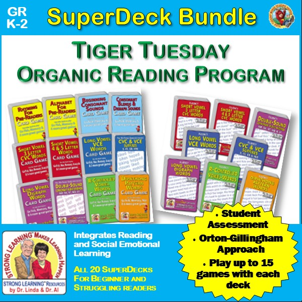 Tiger Tuesday Organic Reading Program - SuperDeck Bundle Add-on