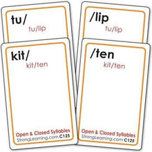 Open and Closed Syllables (Ages 8-11+) C125