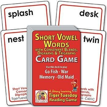 Short Vowel 4-5 Letter CVC Words (Ages 5-6+) C601C