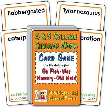 4- & 5-Syllable Challenge Words (Ages 8-11+) C132