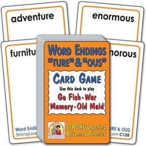 "Word Endings ""TURE"" & ""OUS"" (Ages 8-11+) C128"