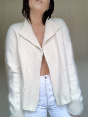 Fuzzy White Sweater