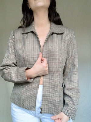 Plaid Crop Jacket