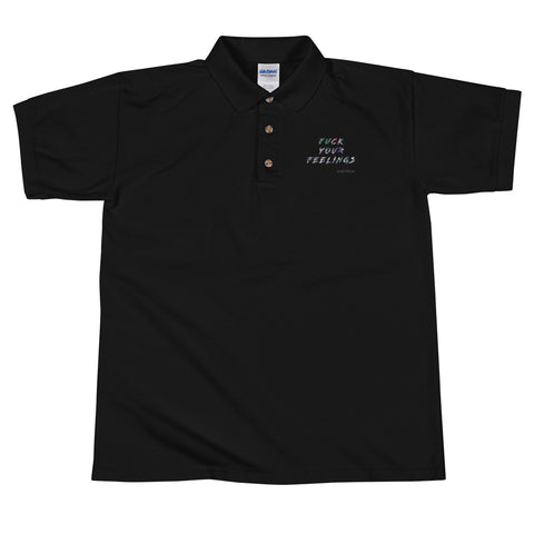 FYF BLK Embroidered Polo Shirt