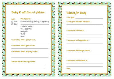 Baby Bee Baby Shower Gender Reveal Prediction Card - BumpReveal