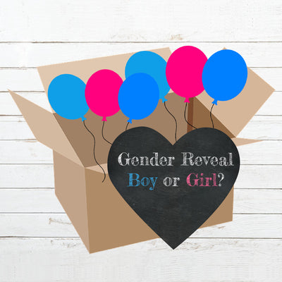 Gender Reveal Boy Or Girl Gender Reveal Box Reveal Kit - BumpReveal