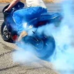 Gender Reveal Bike/Motorcycle Tire Burnout Kit - He or She Black