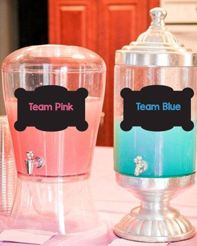 Team Pink Team Blue Gender Reveal Drink Labels - BumpReveal