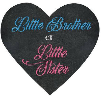 Little Brother or Little Sister Gender Reveal Box Sign - BumpReveal