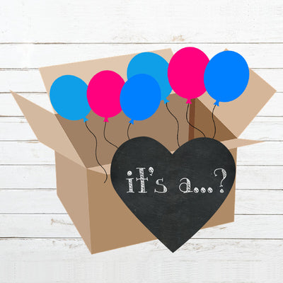 It's A...?  Gender Reveal Box Reveal Kit - BumpReveal