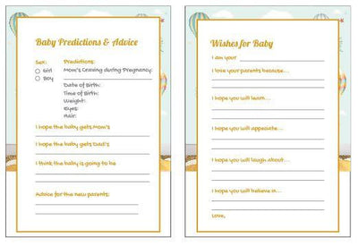 Light Blue Baby Shower Gender Reveal Prediction Card - BumpReveal