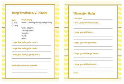 Baby Shower Gender Reveal Prediction Card - BumpReveal