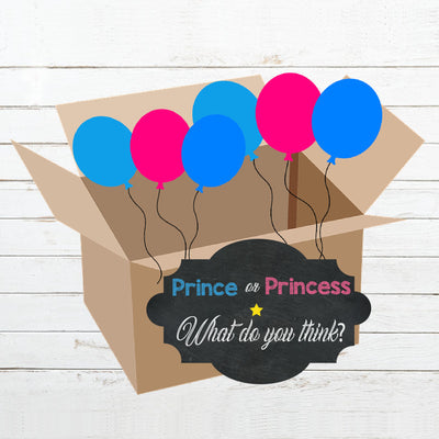 Prince or Princess Gender Reveal Box Reveal Kit - BumpReveal