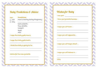 Silver Baby Shower Gender Reveal Prediction Card - BumpReveal