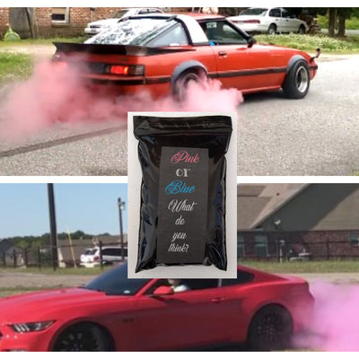 Gender Reveal Car Tire Burnout Kit - Pink or Blue
