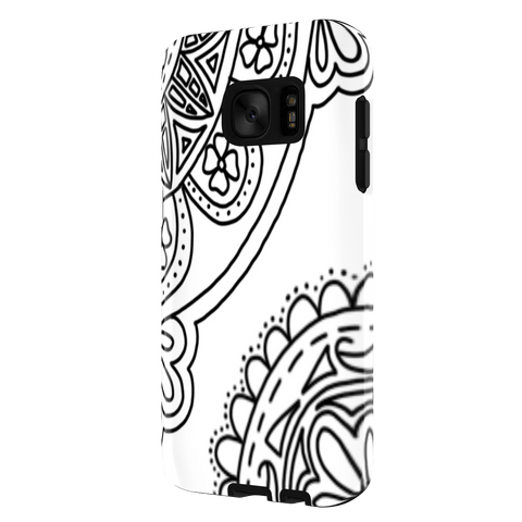 Samsung S7 flower zentangle case