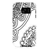 Galaxy S7 flower zentangle case