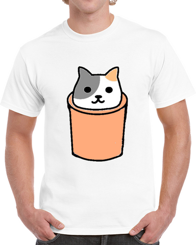 cat in a silo tshirt