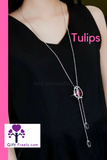 tulip pendant necklace