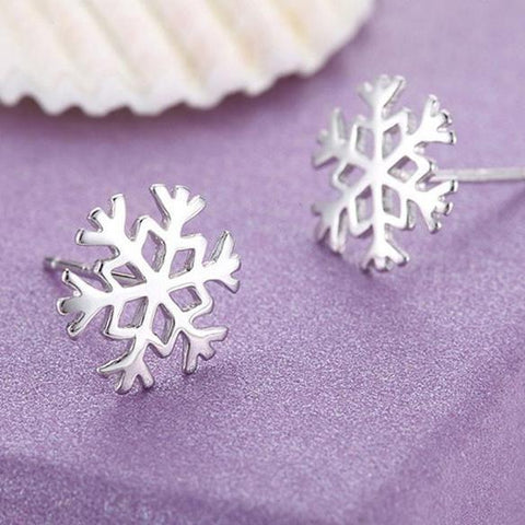 snowflakes ear rings