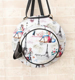 women's round bag - hat shaped backpack