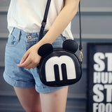 Crossbody Letter 'M' Handbag with Round Flaps