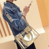 2018 Trendy Women's Clear Shoulder Bag