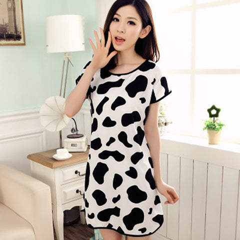 Cow pajama dress
